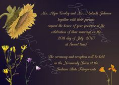 Sunflower Wedding Invitation  by JLCreationsforyou on Etsy