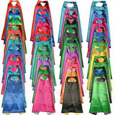 Cheap superhero capes, Buy Quality satin cape directly from China cape superhero Suppliers: Superhero Capes with mask REVERSIBLE Two Colored child cape birthday party favor satin solid capes boys girls satin capes Superhero Capes For Kids, Superhero Party Favors, Superhero Baby Shower, Birthday Party Games For Kids, Birthday Party Favors, 5th Birthday, Birthday Ideas, Wonder Woman Birthday, Superman Birthday