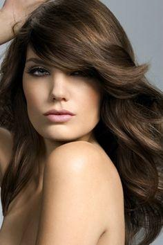 Soft Wavy Hair Colored a deep chocolate brown