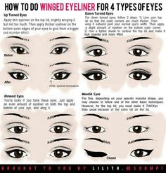 20 Liquid Eyeliner Hacks, Tips and Tricks For The Perfect Cat-Eye (And How To Do Winged Eyeliner, Thin Eyeliner, Winged Liner, Natural Eyeliner, Eyeliner For Eye Shape, Eyeliner Wing, Bottom Eyeliner, Eyeliner For Almond Eyes, Winged Eyeliner