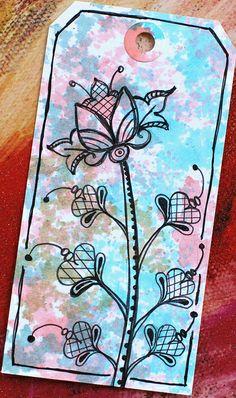 Art Tag - Floral Fantasy 6 by Pink Palindrome, via Flickr