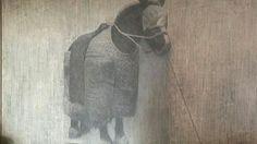말, Horse ,  프랑스에서 활약 중이신 손석 서양화가님 작품,      배우자 김영숙, 아들 손목인, 딸 손아영  #손석 #SonSeok  #Paris  #France