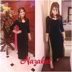 Client Diaries ❤️ Thankyou for sharing another picture Sana! Our beautiful client @_sanana ❤️ Doesnt she look stunning? This one is done in pure velvet with pure brocade pants and intricate detailing on the cuffs! She paired up the whole thing with a dupatta ( which looks gorgeous btw❤️) We love how she styled her look with the maangtikka and earrings and the heels( btw i totally her heels ) Everything about her look is on point Thankyou for trusting us! This outfit can be customised...