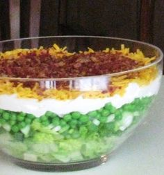 Cooking with K - Southern Kitchen Happenings: 7 Layered Salad, {Granny's Recipe} 24 Hour Salad, Cornbread Salad, Granny's Recipe, Menu Recipe, How To Cook Eggs, Summer Salads, Soup And Salad, 7 Up Salad, The Best
