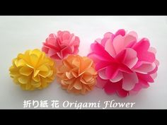 折り紙 花2 簡単な作り方(niceno1)Origami Flower tutorial - YouTube
