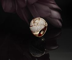 """""""Rosebud"""" Ring in Pink gold with Diamonds"""