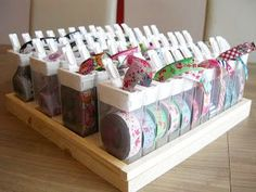 Tic Tac boxes recycling or woven ribbon storage ! What a brilliant . - Tic Tac boxes recycling or woven ribbon storage ! What a brilliant … Tic Tac boxes recycling or - Craft Room Storage, Craft Organization, Recycling Storage, Closet Organization, Sewing Projects For Beginners, Diy Projects, Ribbon Storage, Storage Boxes, Ideas Para Organizar