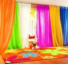 Rainbow room, curtains