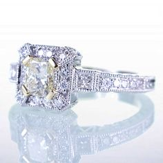 "18+Karat+White+Gold+Light+Yellow+Diamond+Engagement+by+samnsue,+$2,200.00 ""GOT TO HAVE THIS RING...IT'S PERFECT!  BEAUTIFUL! """