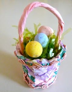 K cup easter basket