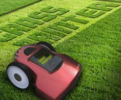 Grass Printer | I would totally care about my lawn if i had one of these!!