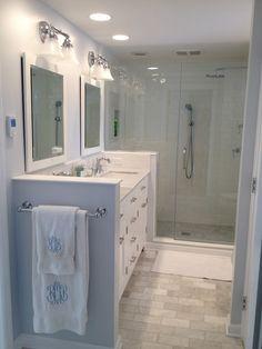 Bathroom Remodel- White Subway and Carrara Marble - Bathrooms Forum - GardenWeb