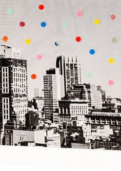 Citydots collage by
