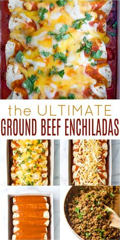The Ultimate Ground Beef Enchilada The Ultimate Easy Beef Enchilada Recipe with a smoky enchilada sauce and covered in cheese! These Beef Enchiladas scream comfort food – a homemade recipe that's perfect for a crowd and guaranteed to please! Sauce Enchilada, Enchilada Casserole Beef, Enchilada Recipes, Best Beef Enchilada Recipe, Mexican Casserole, Easy Beef Enchiladas, Ground Beef Enchiladas, Homemade Enchiladas, Flour Tortilla Enchiladas
