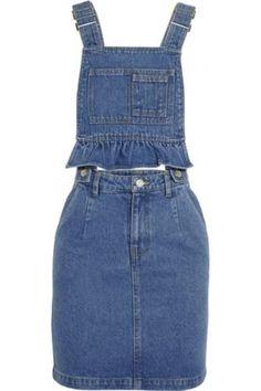 Denim mini dress #casualdress #offduty #women #covetme #stevej&yonip