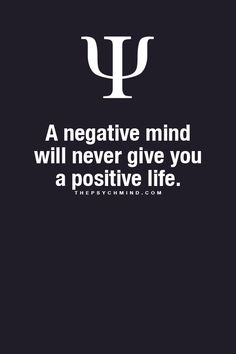 thepsychmind: Fun Psychology facts here! negativity