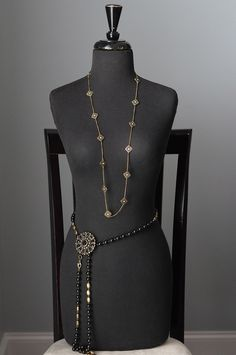 Nightingale necklace as belt and Francy enhancer/pin