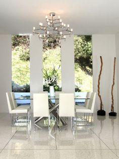 Terrazzo Floor dining room in white