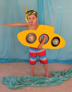 Kids' Submarine Costume (from the DIY Under-the-Sea Costume Series) by Brenda Ponnay for Alphamom.com