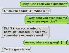 Funny text - Take me somewhere expensive