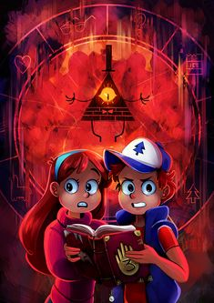ICE 9 Dipper Pines Mabel Pines Bill Cipher art cartoon fictional character computer wallpaper
