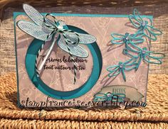 Projet d'Atelier démonstration Stampin Up sliding star / carte coulissante Songes de libellule / Dragonfly Dreams