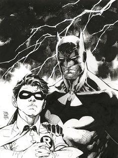 bear1na:  Batman and Robin by Jim Lee *