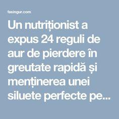 Un nutriționist a expus 24 reguli de aur de pierdere în greutate rapidă și menținerea unei siluete perfecte pentru totdeauna! - Fă Singur