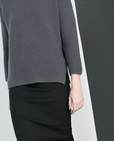 ZARA - NEW THIS WEEK - LINK KNIT SWEATER