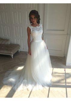 Princess wedding dress,tulle wedding dress,country wedding dress,Lace wedding dress,WD034