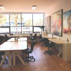 Beautiful custom built desks and an inspiring environment at The Manly Hub co-working space in Manly