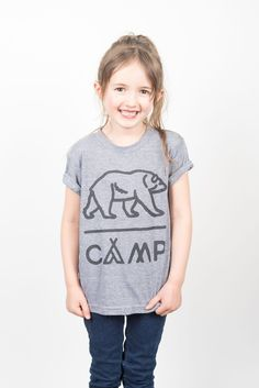 fa1f4976ef80 TODDLER GRIZZLY T-SHIRT    TRI GREY Unisex Style