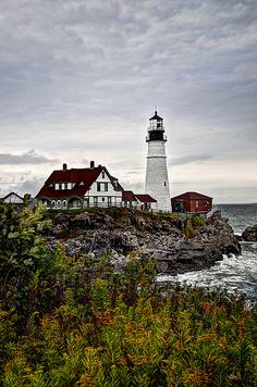 As my quest continues to photograph lighthouses in the United States, this image was captured with the beautiful fall foliage encircling the Portland head Light to create a postcard depiction of the light. Lighthouse Collection Maine Photography