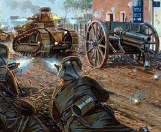 The Battle of Saint-Mihiel September Fig. Military Art, Military History, Ww1 Battles, Ww1 Tanks, Ww1 Art, Military Drawings, World War One, Modern Warfare, Panzer