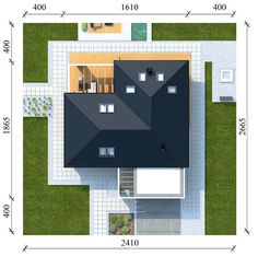 Usytuowanie projektu na działce House Sketch Design, House Design, One Storey House, Bungalow Exterior, House Elevation, Types Of Houses, Trends, House Plans, Sweet Home