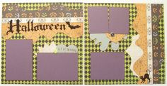 Halloween Premade 2 Page 12x12 Scrapbook by GLOwormpaperdesigns                                                                                                                                                                                 More