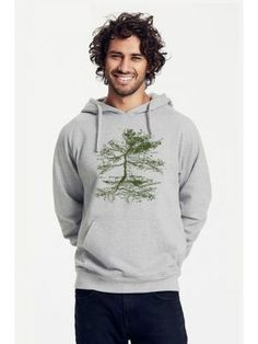 Bio-Herren-Kapuzensweater Rooted Hoodies, Sweatshirts, Graphic Sweatshirt, Sweaters, Fashion, Vegan Fashion, Moda, La Mode, Pullover