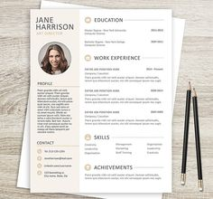 resume template resume cover letter template resume template for word cv resume