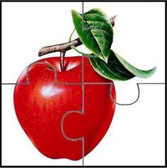 Simple Apple Puzzle - Would work as a template for any square picture. Kindergarten Activities, Infant Activities, Educational Activities, Preschool Crafts, Crafts For Kids, Maze Puzzles, Puzzles For Toddlers, Apple Theme, Preschool Printables