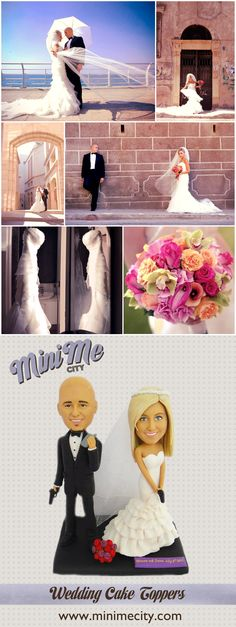 Creative Gift ideas - Fully custom made figurine  Custom Wedding Cake Toppers made from your photos! Wedding idea, Caketopper, funny wedding cake toppers, personalised wedding cake topper, personalized cake toppers, cake tops, wedding cake figurines, cake topper ideas.
