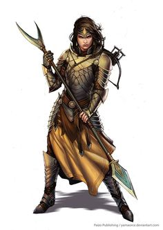 Pathfinder-Palace Guard by YamaOrce female fighter knight paladin spear halberd polearm platemail Dungeons And Dragons Characters, Dnd Characters, Fantasy Characters, Female Characters, Fantasy Figures, Pathfinder Character, Pathfinder Rpg, Fantasy Armor, Medieval Fantasy