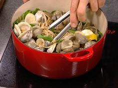 Curtis Stone's healthy pasta with clams, spinach