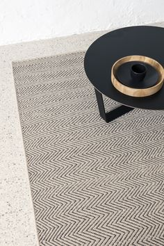 Herringbone Weave - Limestone & Charcoal | Armadillo&Co