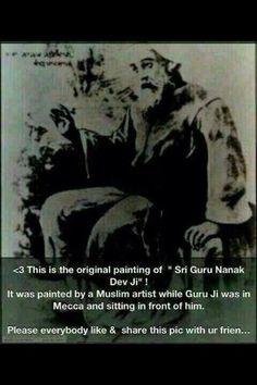 Original Painting of Guru Nanak Dev ji Guru Nanak Ji, Nanak Dev Ji, Radha Soami, Guru Gobind Singh, Renaissance Men, World Religions, Indian Gods, Love Images, Sufi