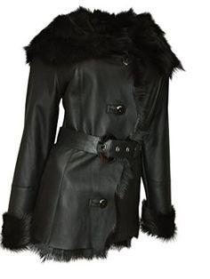 44081cf9444 Dudex Women s Suede Sheepskin Lambskin Leather Jacket Designer Winter Fur  Coat at Amazon Women s Coats Shop