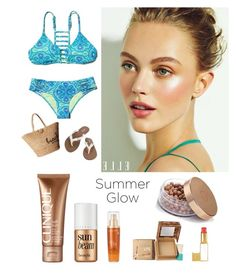 """""""Summer"""" by kotnourka ❤ liked on Polyvore featuring beauty, Hollister Co., Clinique, Hat Attack, Volcom, Benefit, Lancôme and Tom Ford"""