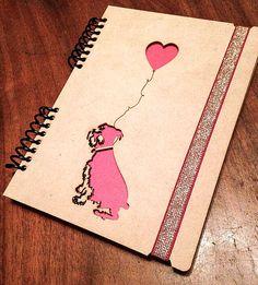 Diario de escritura de los Notebook de amantes del por NudoDiseno