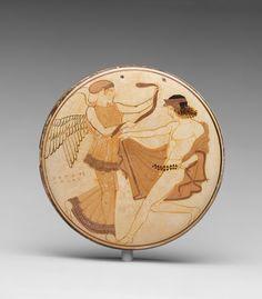 Terracotta bobbin Attributed to the Penthesilea Painter Period: Classical Date: ca. 460–450 B.C. Culture: Greek, Attic. | The Metropolitan Museum of Art