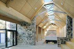 This project recently won an ASA (Aberdeen Society of Architects) Design Award 2016 and has been short-listed for a Scottish Design Award. Built upon the ruins of a derelict building in Portsoy harbour, the new boatbuilding centre employs a minimal materials palette which sites within the reconstructed external stone skin. A primary Glulam structure creates a large industrial like space, which is lined …