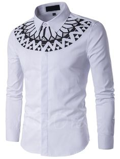 Cheap shirt making, Buy Quality shirt clipart directly from China shirt denim men Suppliers: Camisa Masculina Slim Fashion Men Shirt 2017 New Brand Casual Long-Sleeved Chemise Homme Camisa Masculina large size African Men Fashion, African Fashion Dresses, Fashion Men, White Fashion, Fashion Brand, Spring Fashion, African Attire, African Wear, African Style